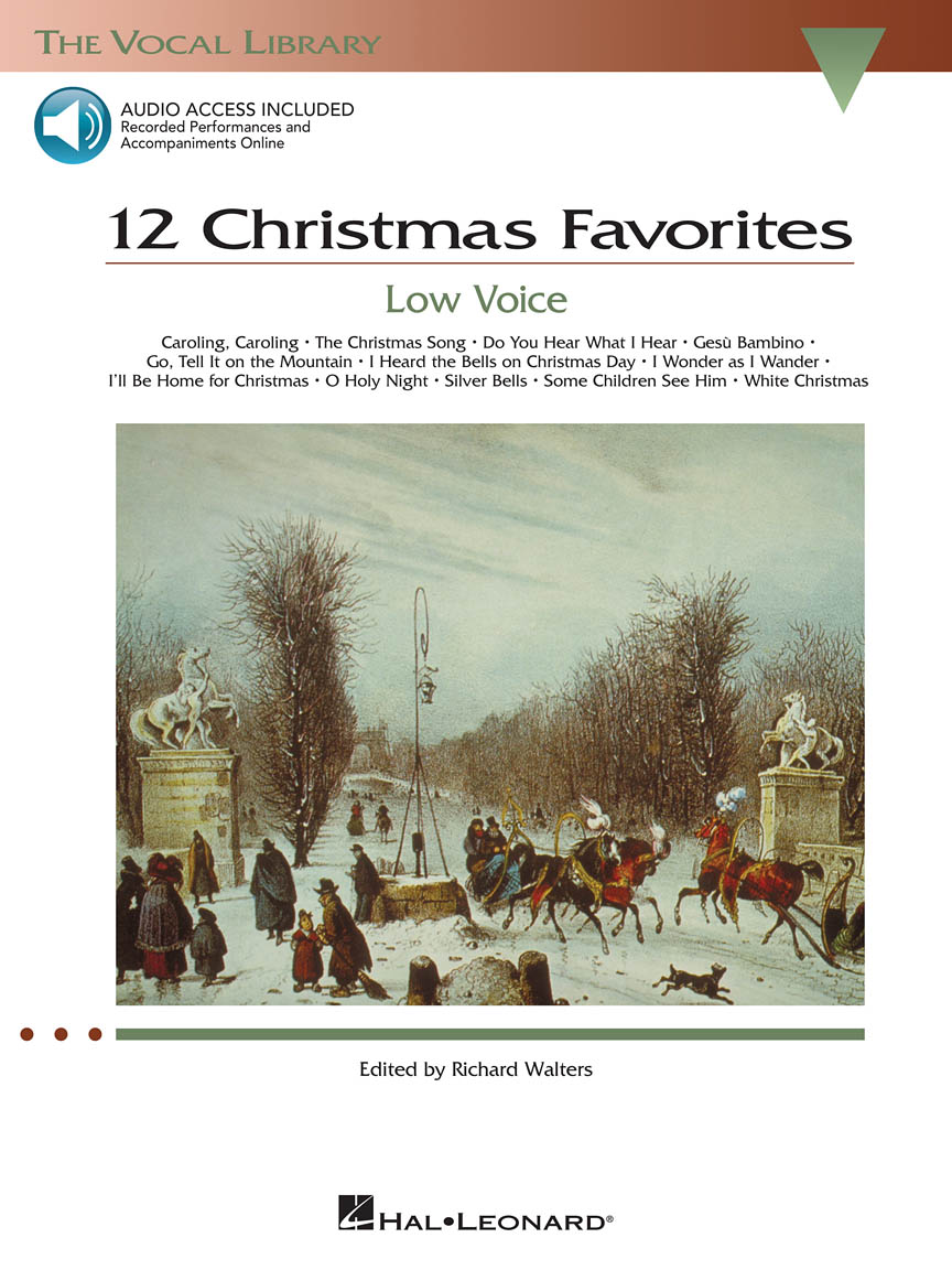 Product Cover for 12 Christmas Favorites - Low Voice