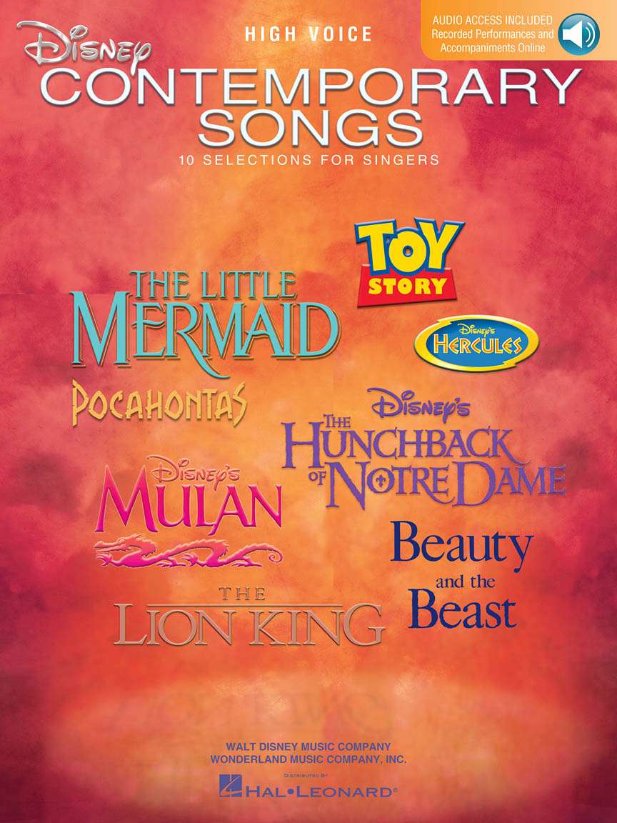 Product Cover for Disney Contemporary Songs