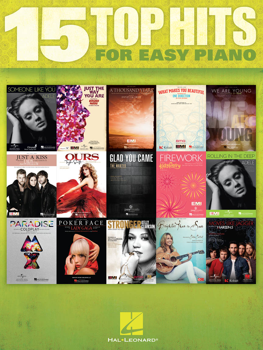Product Cover for 15 Top Hits for Easy Piano