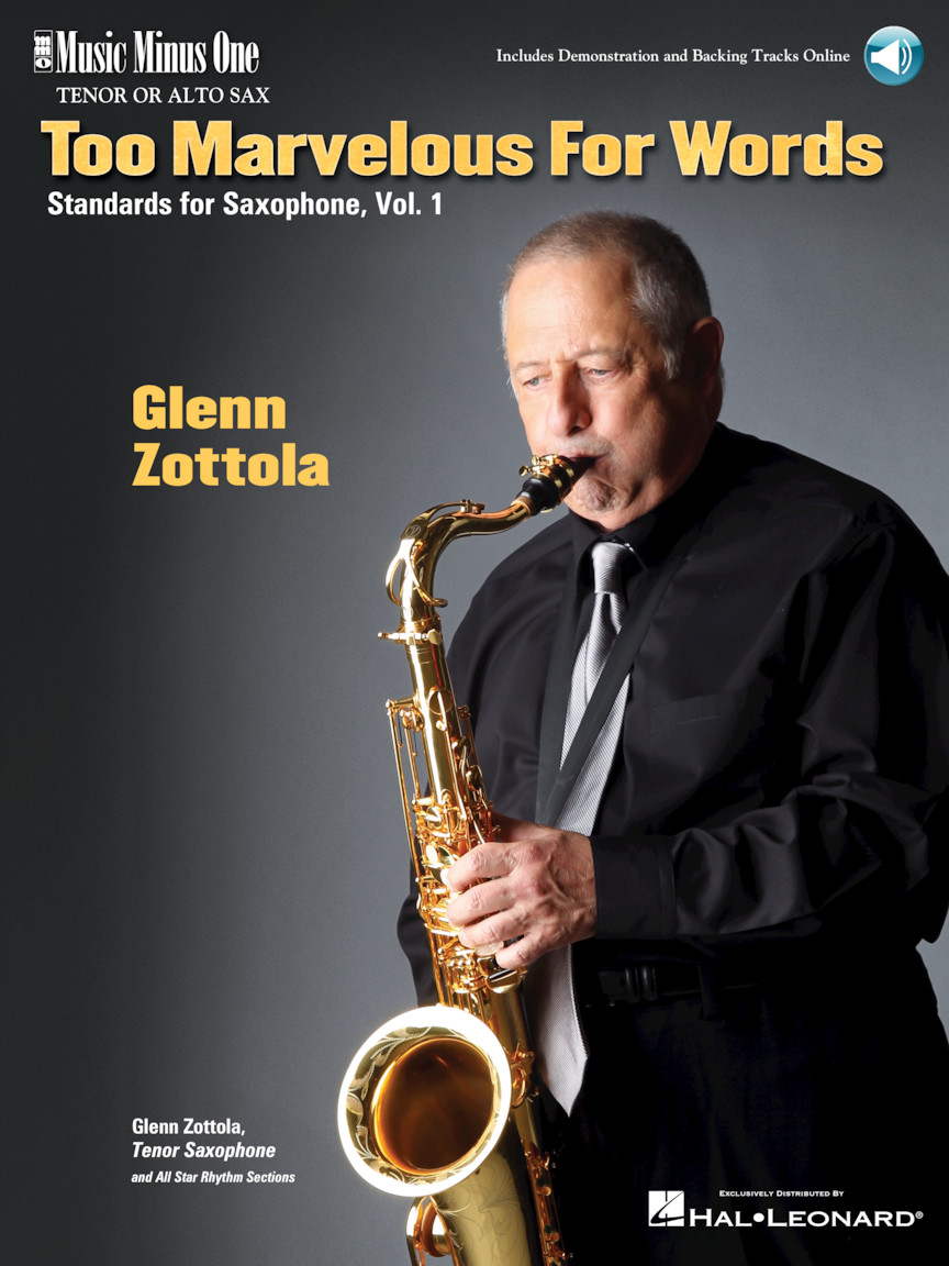 Product Cover for Too Marvelous for Words – Standards for Tenor Sax, Vol. 1