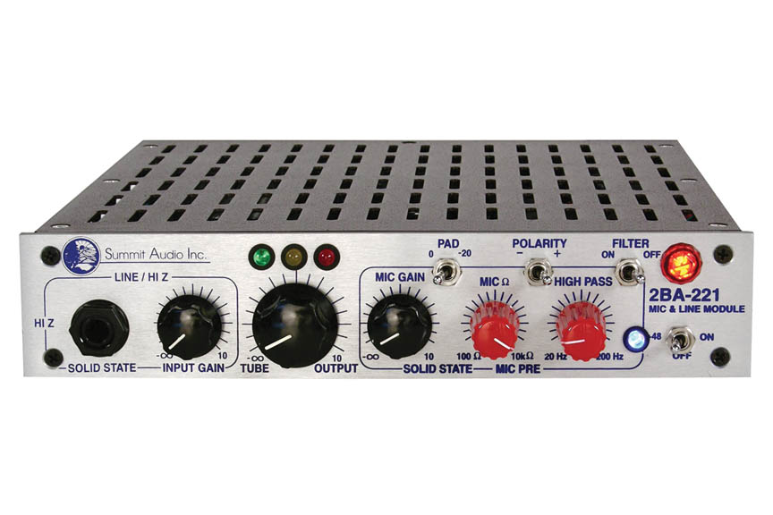 Product Cover for 2BA-221 Mic and Line Preamp