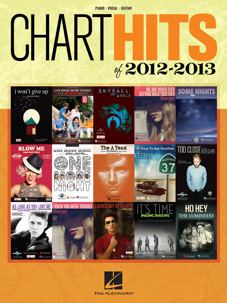 Product Cover for Chart Hits of 2012-2013