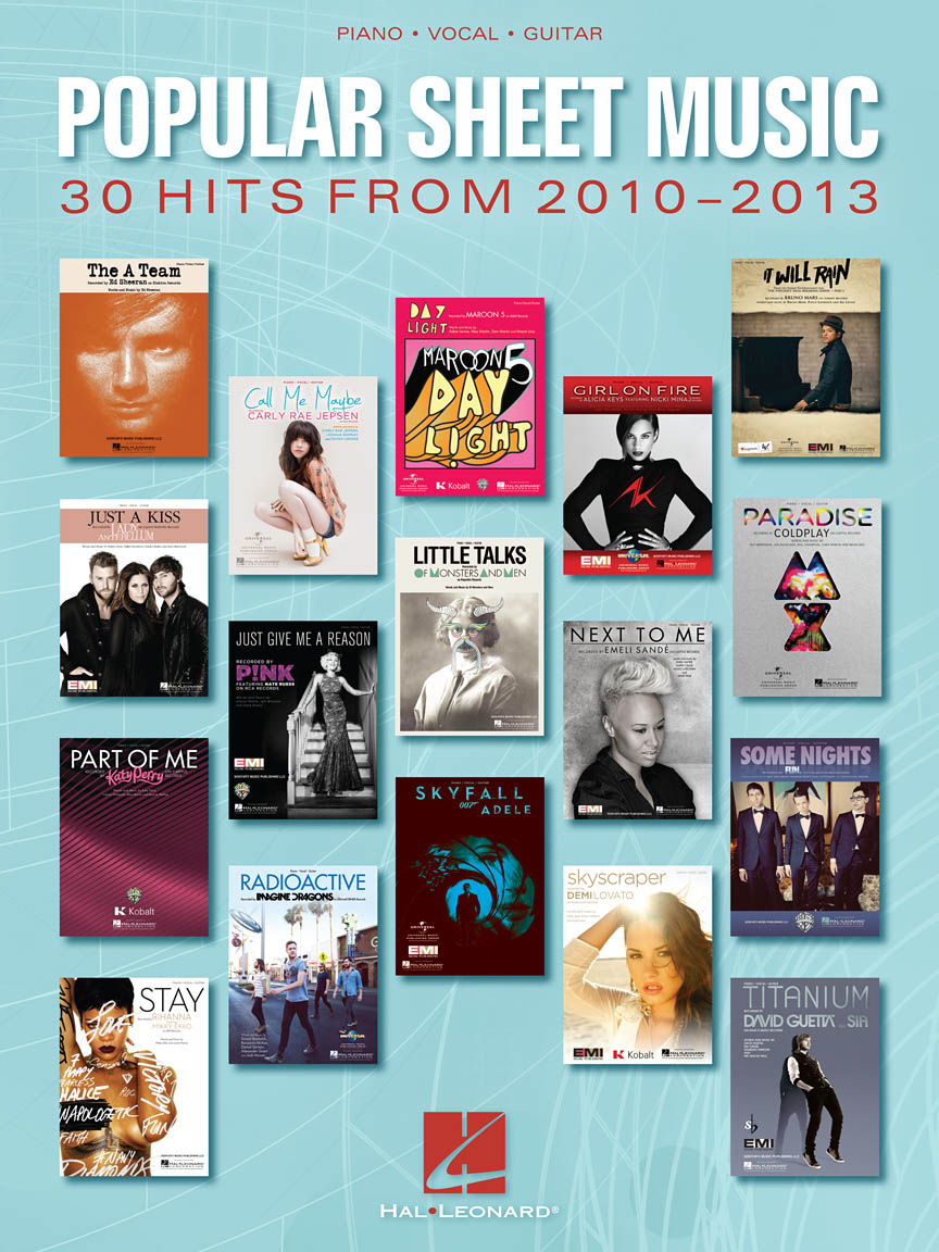 Product Cover for Popular Sheet Music – 30 Hits from 2010-2013