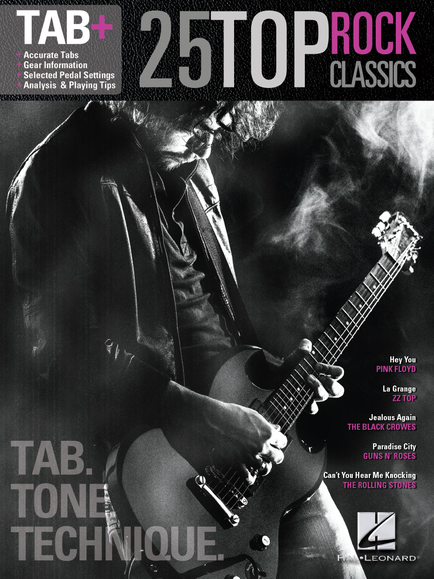 Product Cover for 25 Top Rock Classics – Tab. Tone. Technique.