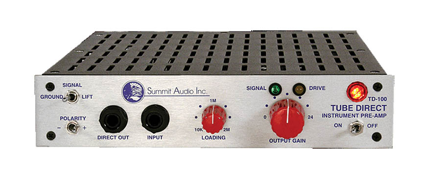 Product Cover for Summit TD100 Instrument Preamp and Direct Box