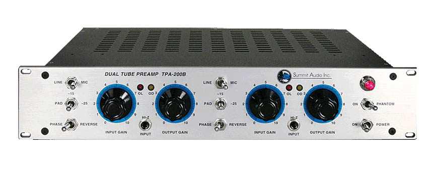 Product Cover for Summit TPA-200b Dual Tube Microphone and Line Preamp