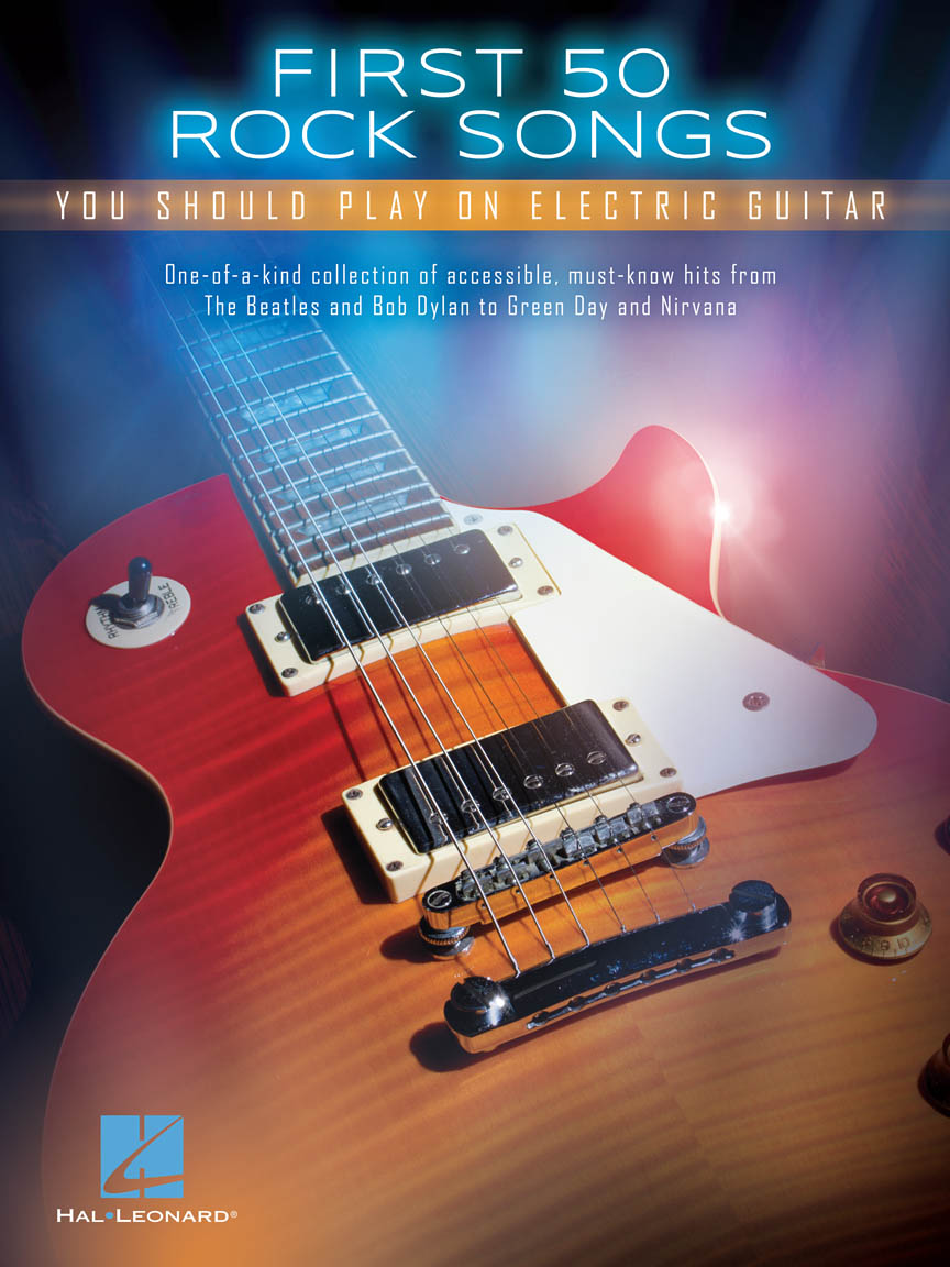 Product Cover for First 50 Rock Songs You Should Play on Electric Guitar