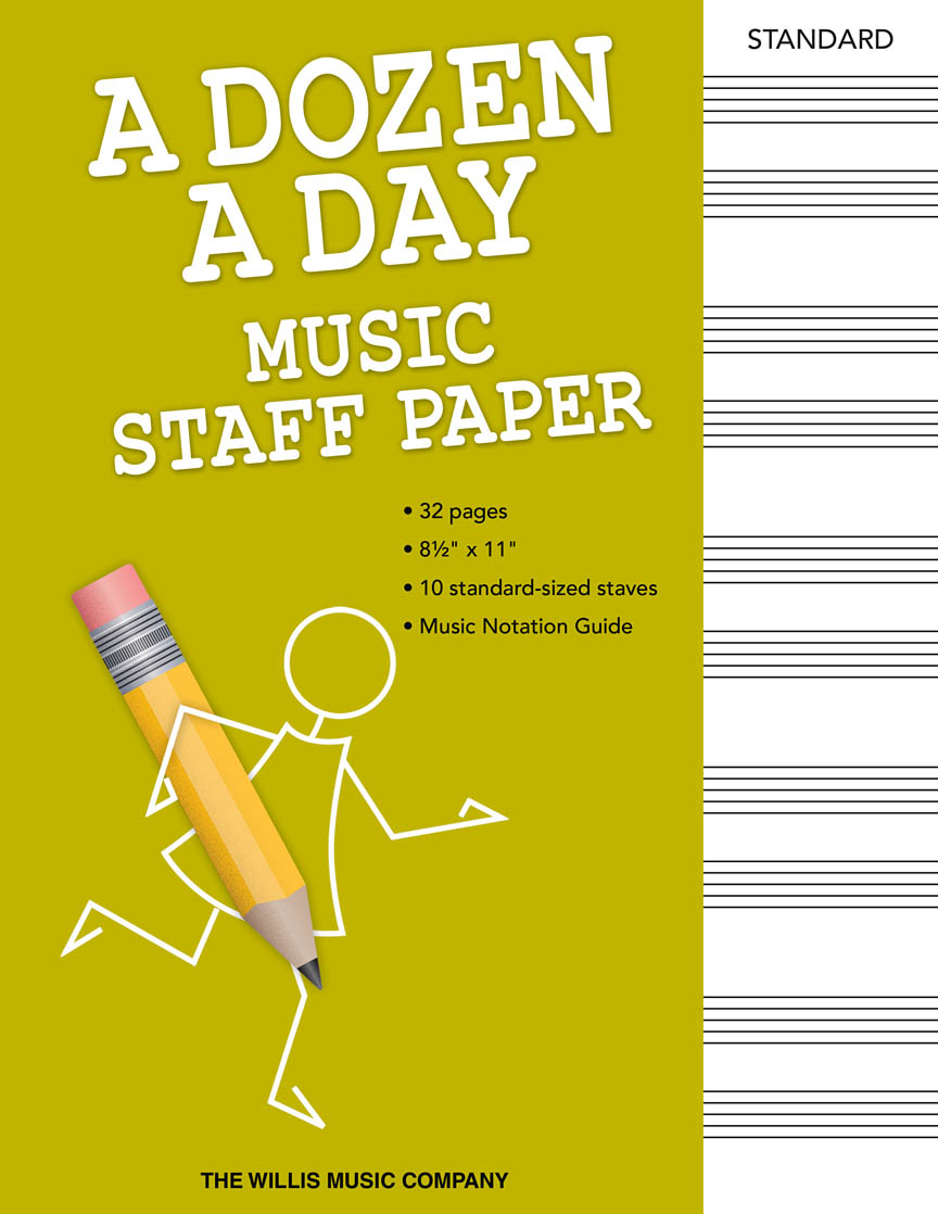 Product Cover for A Dozen a Day – Music Staff Paper
