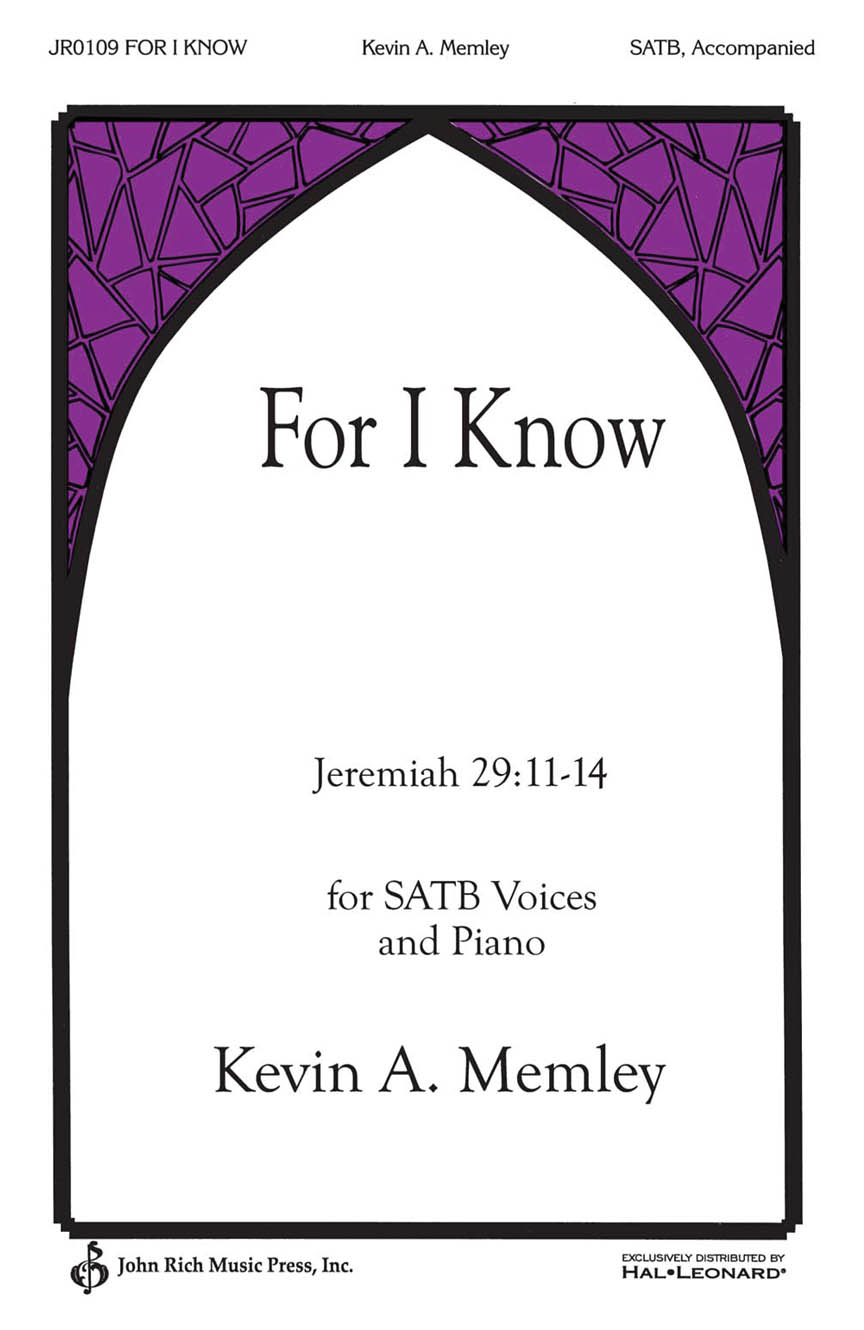 Product Cover for For I Know