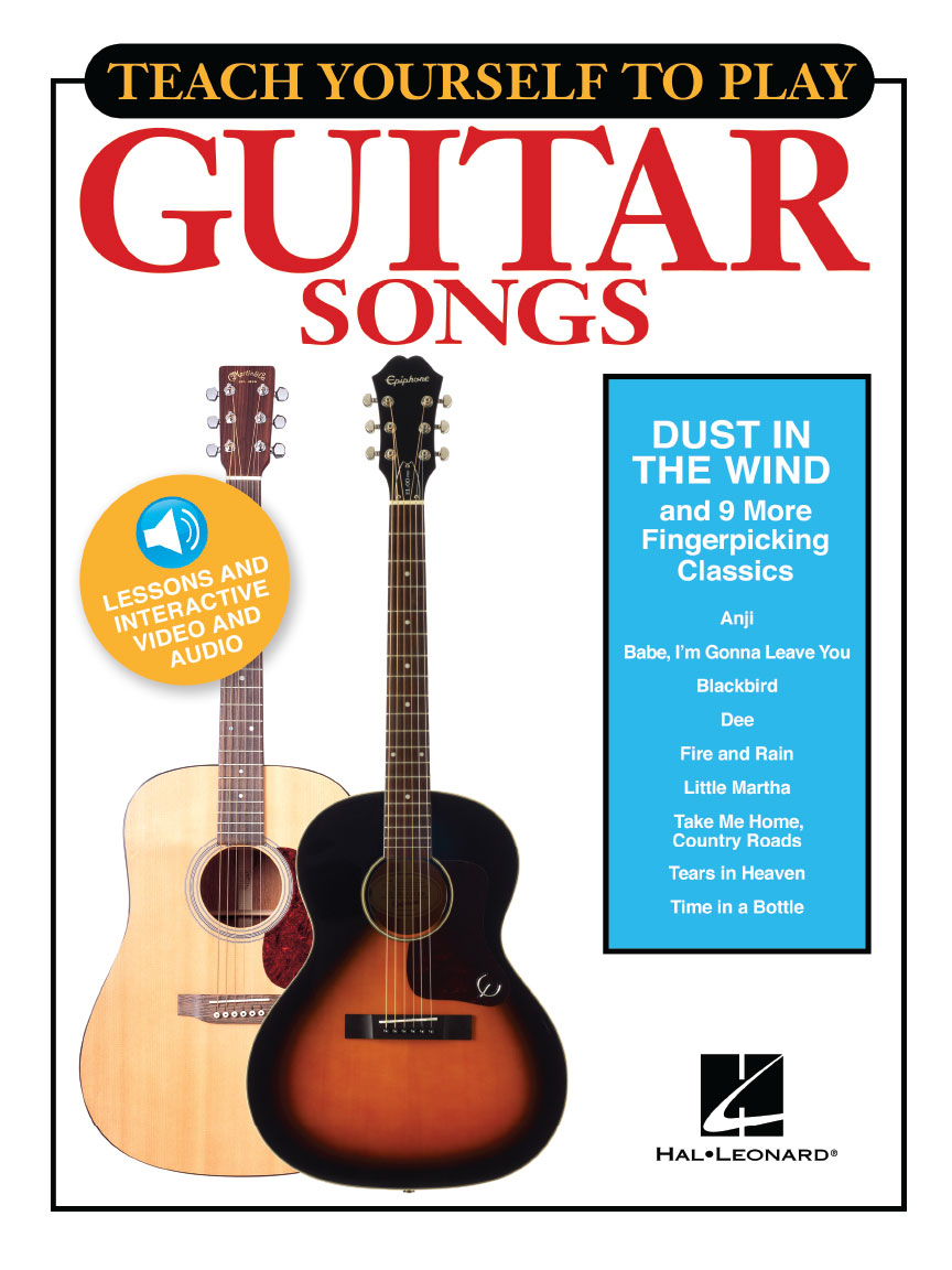 """Product Cover for Teach Yourself to Play Guitar Songs: """"Dust in the Wind"""" & 9 More Fingerpicking Classics"""