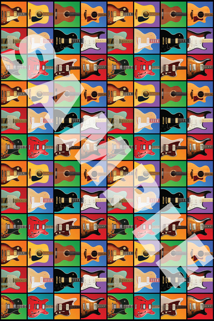 Product Cover for Hal Leonard Wrapping Paper – Guitar Retro Theme