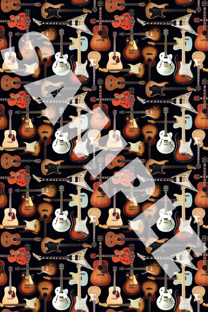 Product Cover for Hal Leonard Wrapping Paper – Guitar Collage Theme