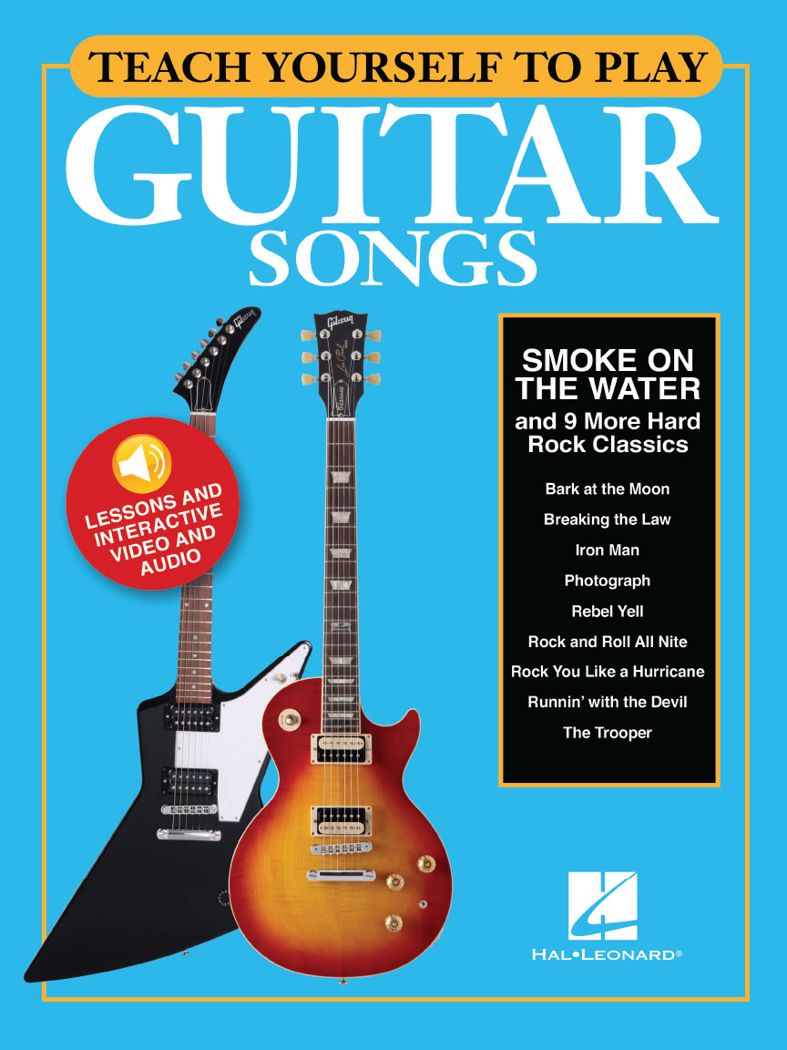 "Product Cover for Teach Yourself to Play Guitar Songs: ""Smoke on the Water"" & 9 More Hard Rock Classics"