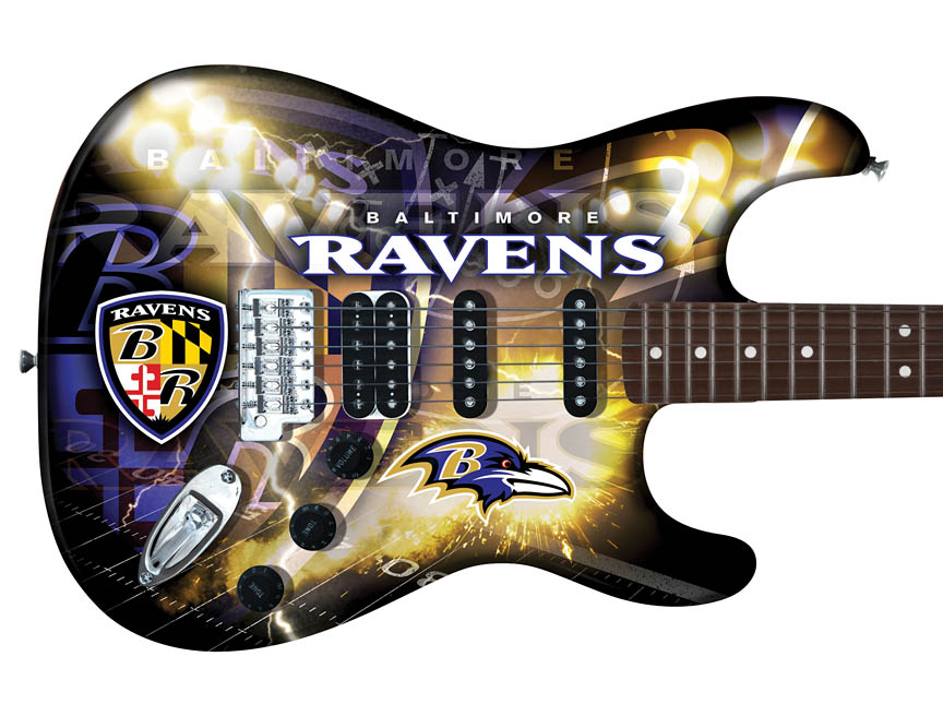 Product Cover for Baltimore Ravens Northender Guitar