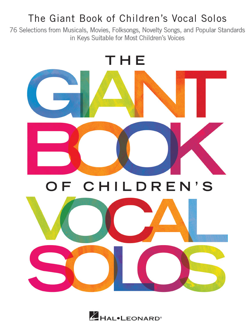 Product Cover for The Giant Book of Children's Vocal Solos