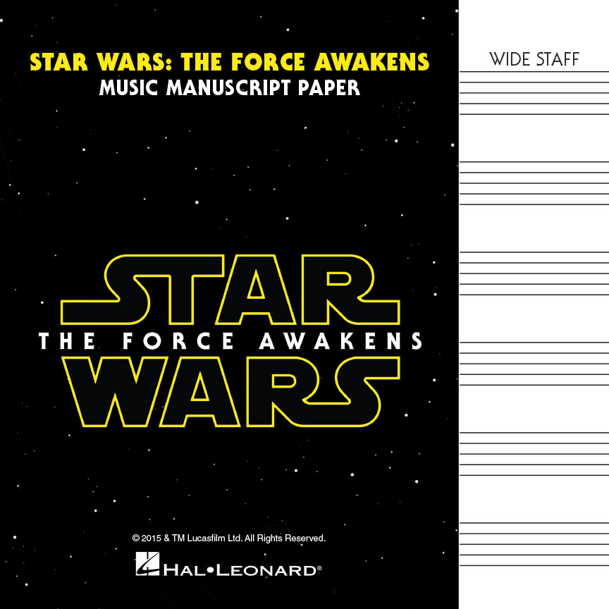 Product Cover for Star Wars: The Force Awakens – Manuscript Paper