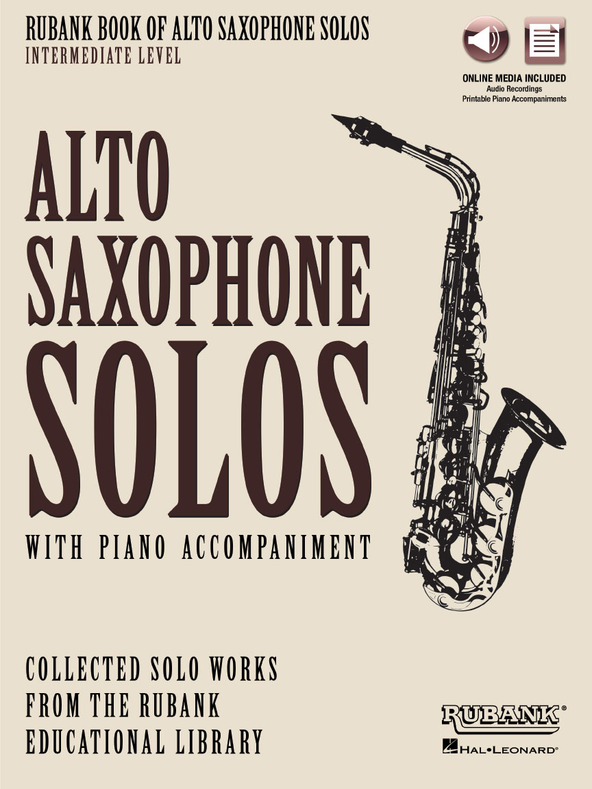 Product Cover for Rubank Book of Alto Saxophone Solos – Intermediate Level