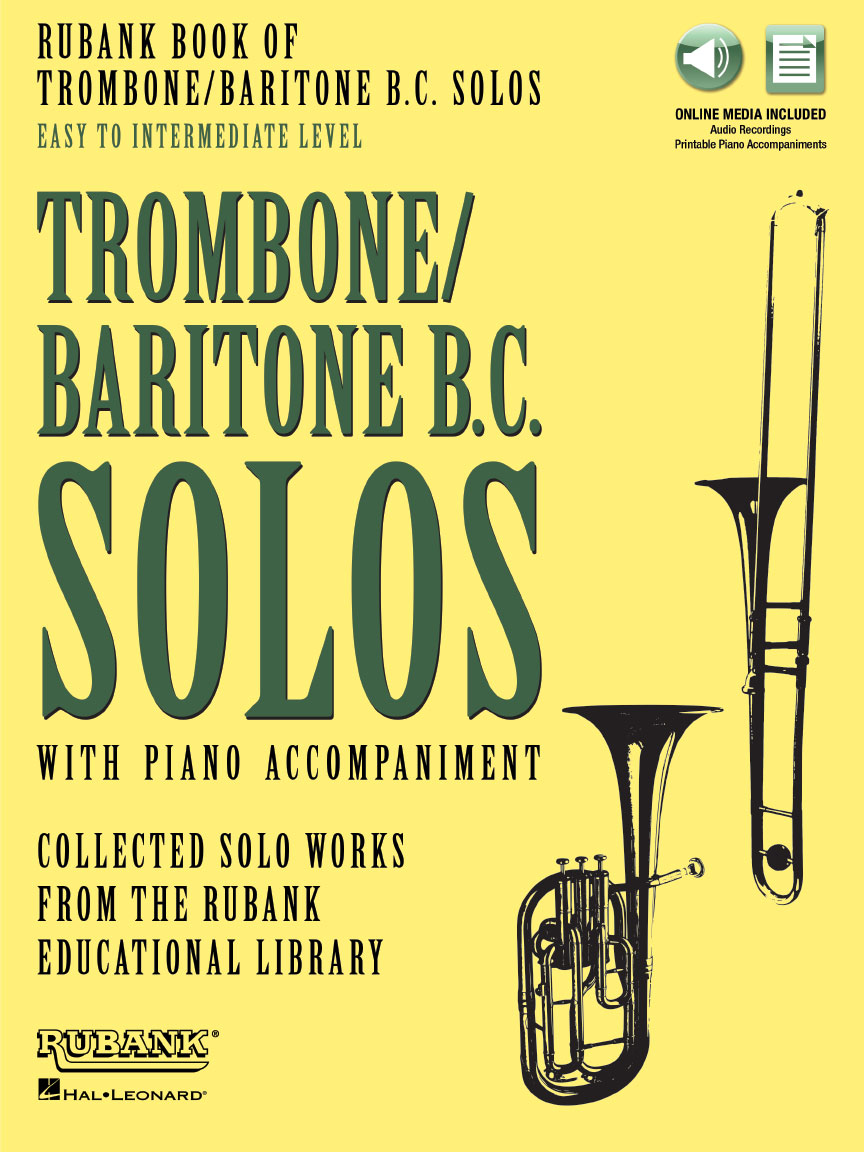 Product Cover for Rubank Book of Trombone/Baritone B.C. Solos – Easy to Intermediate