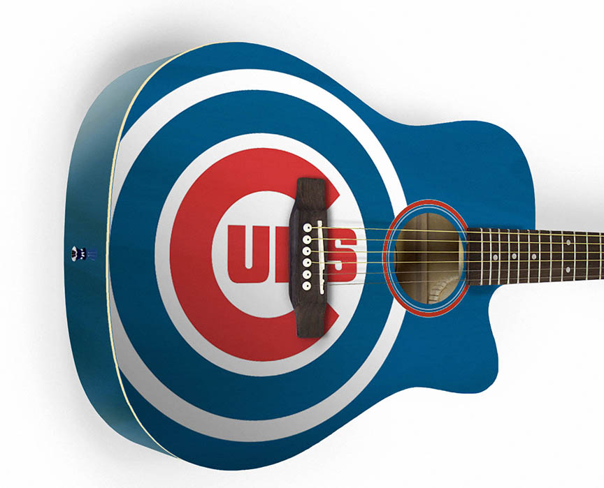 Product Cover for Chicago Cubs Acoustic Guitar