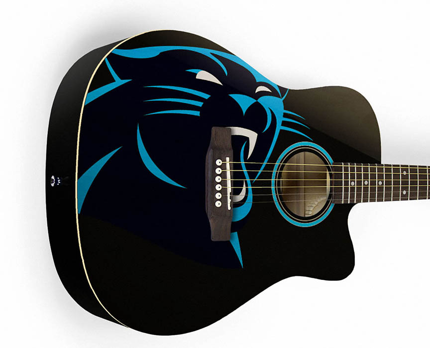 Product Cover for Carolina Panthers Acoustic Guitar