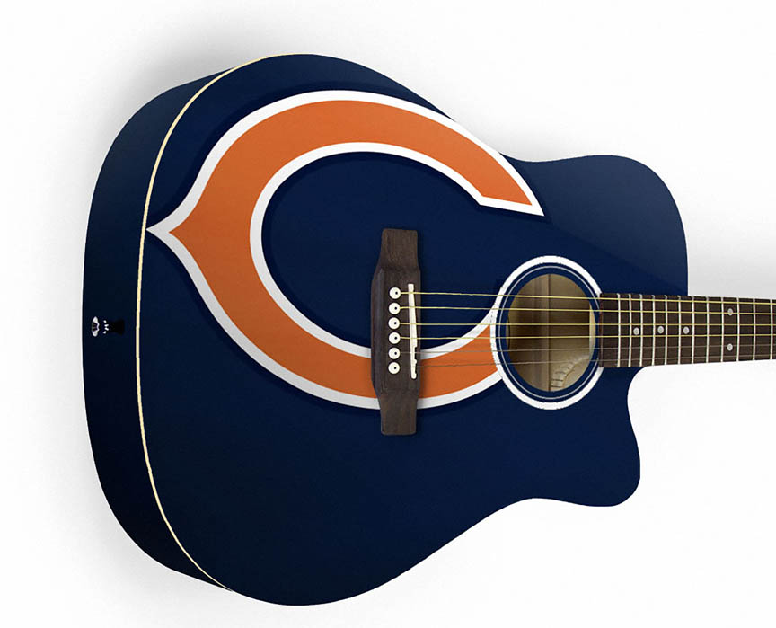 Product Cover for Chicago Bears Acoustic Guitar