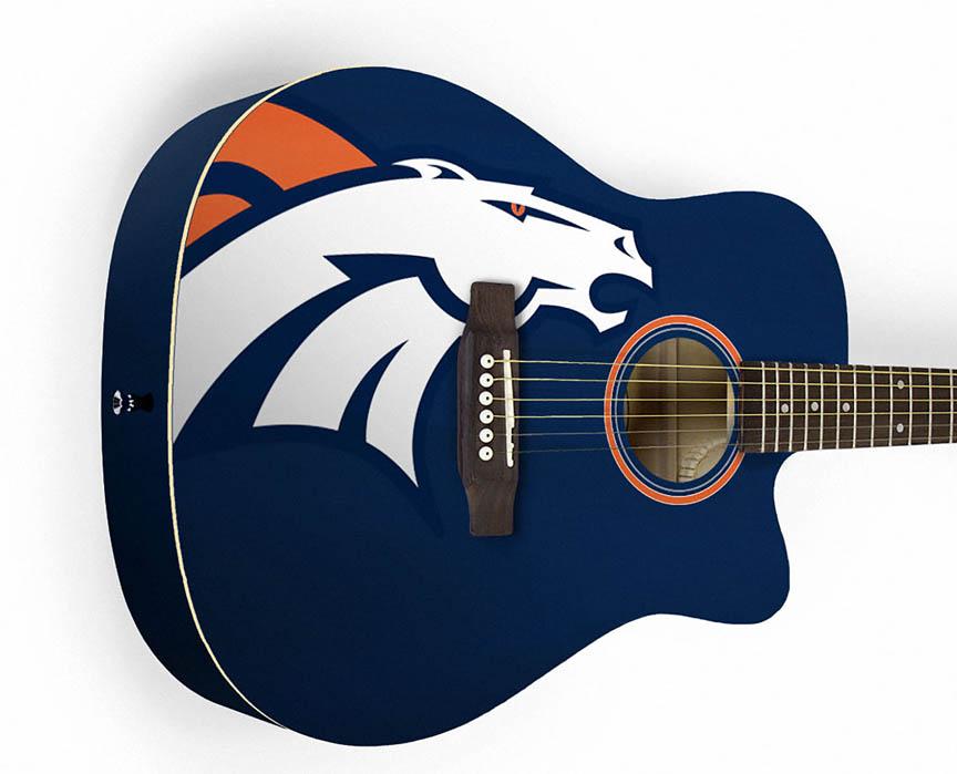 Product Cover for Denver Broncos Acoustic Guitar