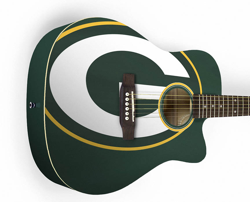Product Cover for Green Bay Packers Acoustic Guitar