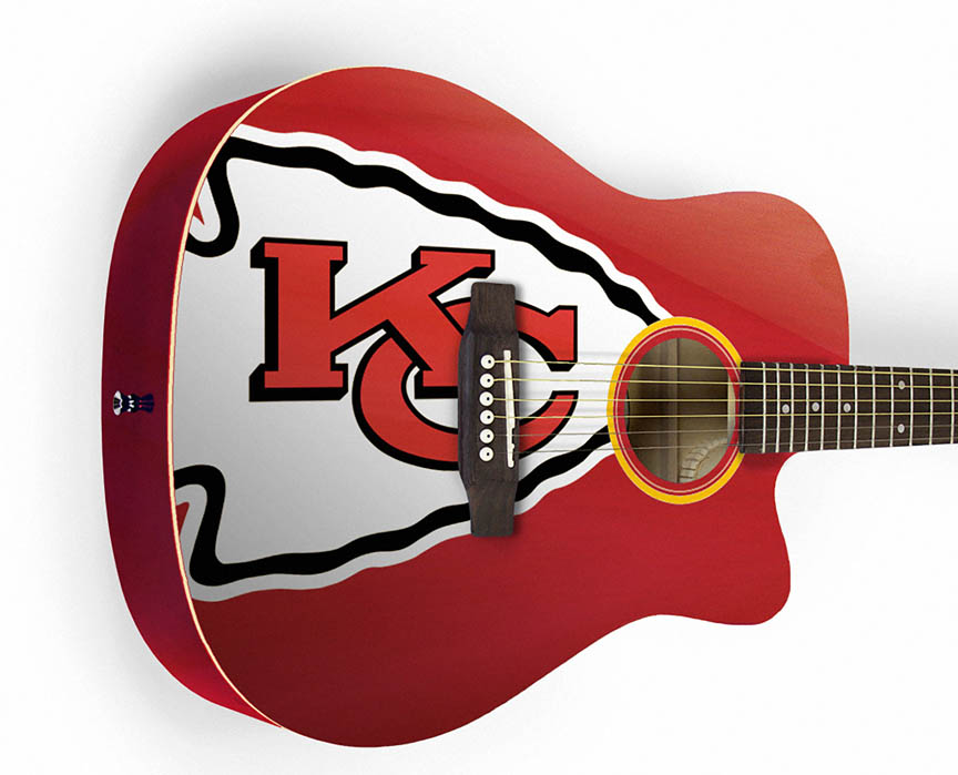 Product Cover for Kansas City Chiefs Acoustic Guitar