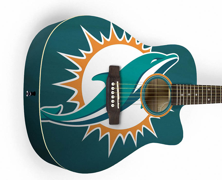 Product Cover for Miami Dolphins Acoustic Guitar