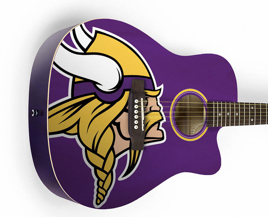 Product Cover for Minnesota Vikings Acoustic Guitar