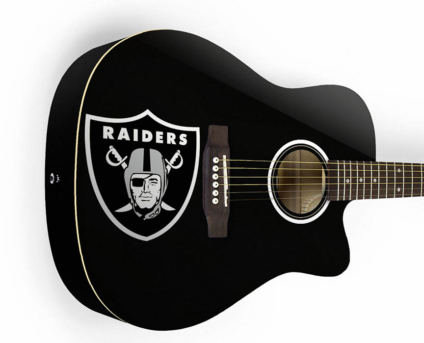 Product Cover for Oakland Raiders Acoustic Guitar