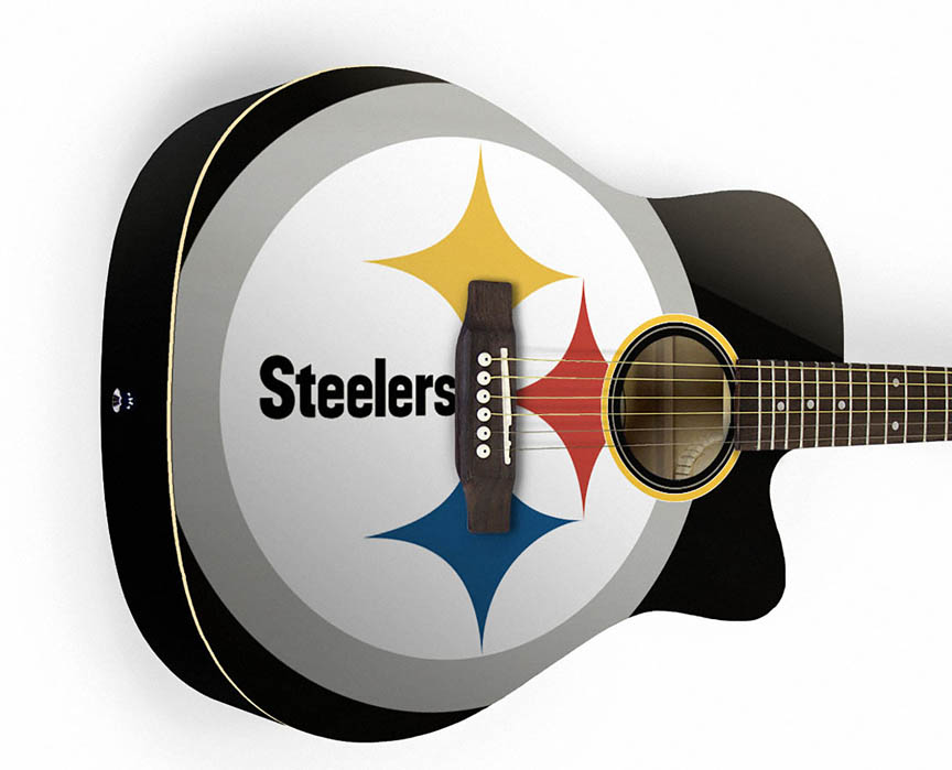 Product Cover for Pittsburgh Steelers Acoustic Guitar