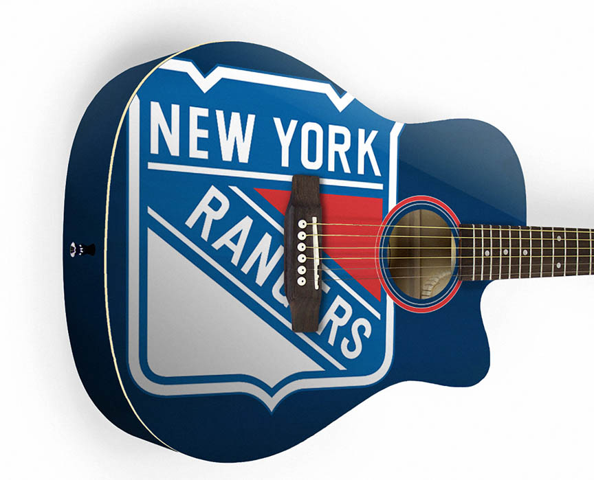 Product Cover for New York Rangers Acoustic Guitar