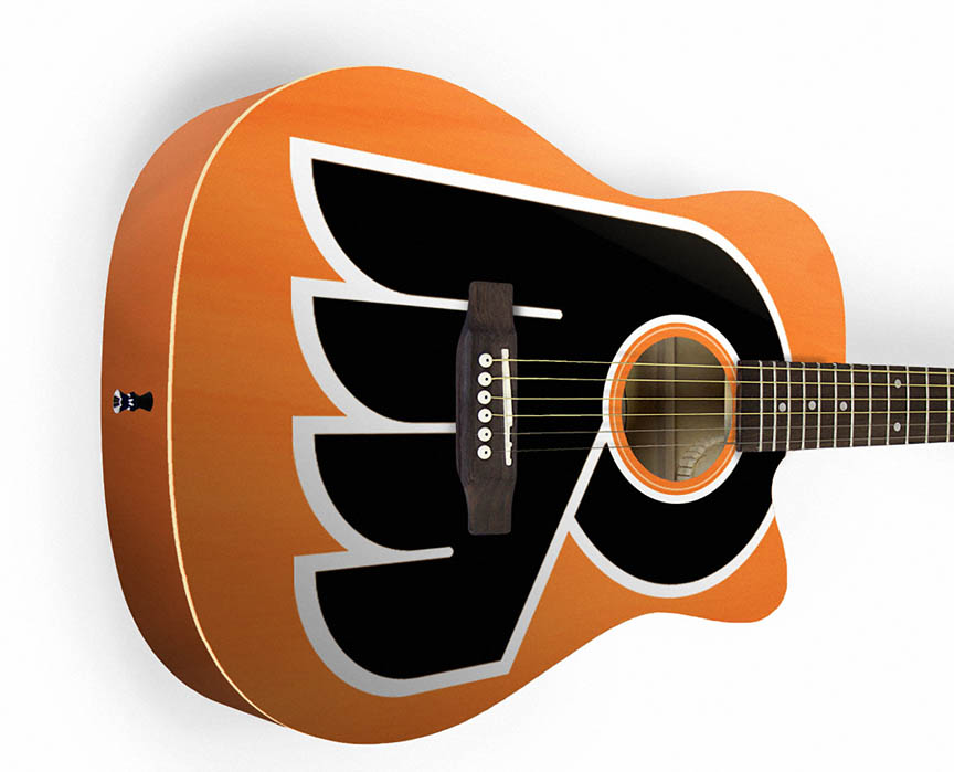 Product Cover for Philadelphia Flyers Acoustic Guitar