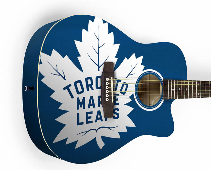 Product Cover for Toronto Maple Leafs Acoustic Guitar