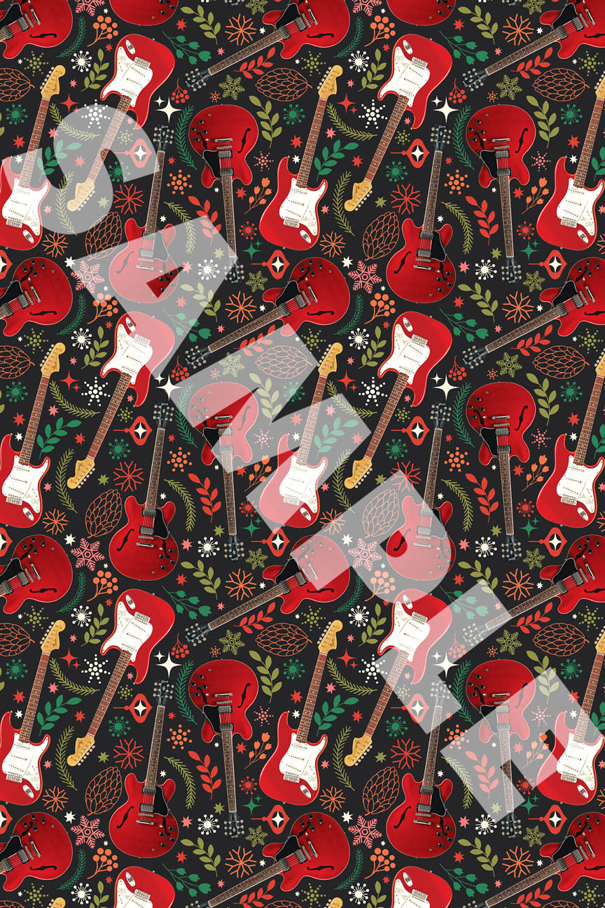Product Cover for Hal Leonard Wrapping Paper – Red Guitar Theme