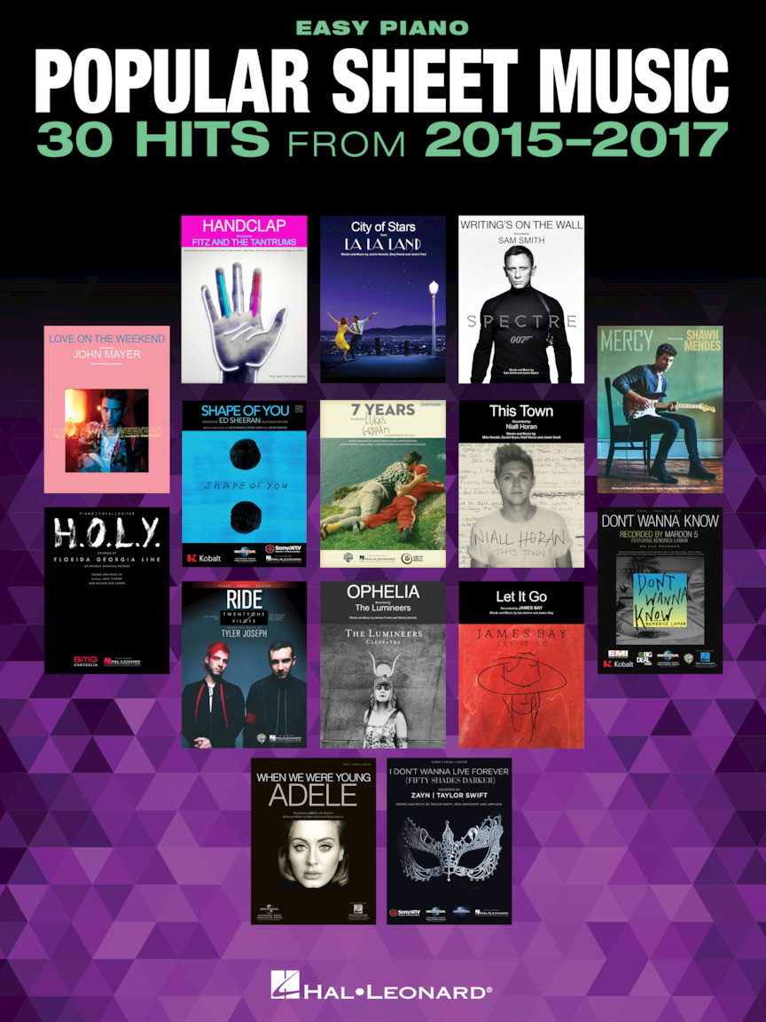 Product Cover for Popular Sheet Music – 30 Hits from 2015-2017