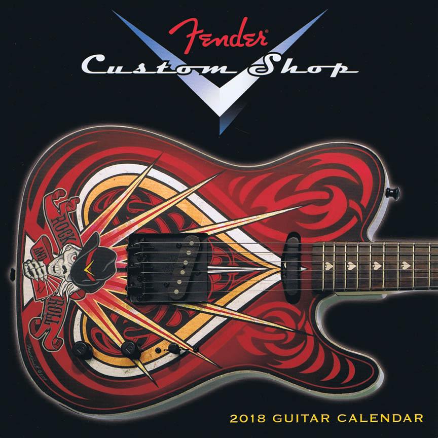 2018 Fender Custom Shop Desk Calendar