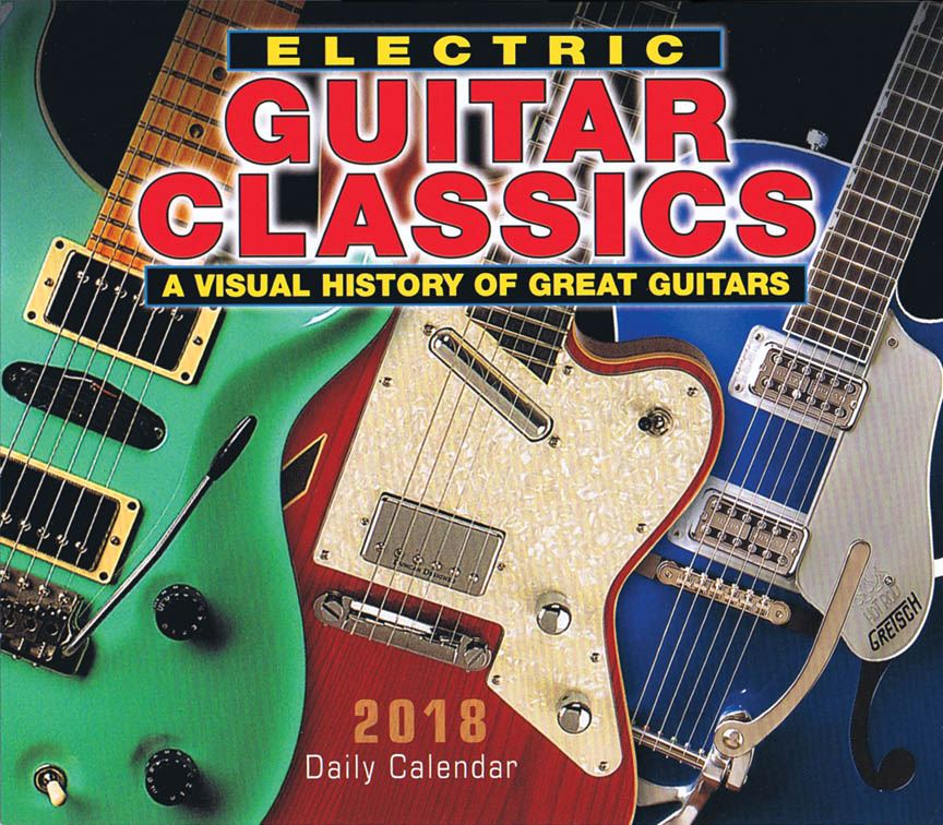 Product Cover for 2018 Electric Guitar Classics Daily Desk Calendar