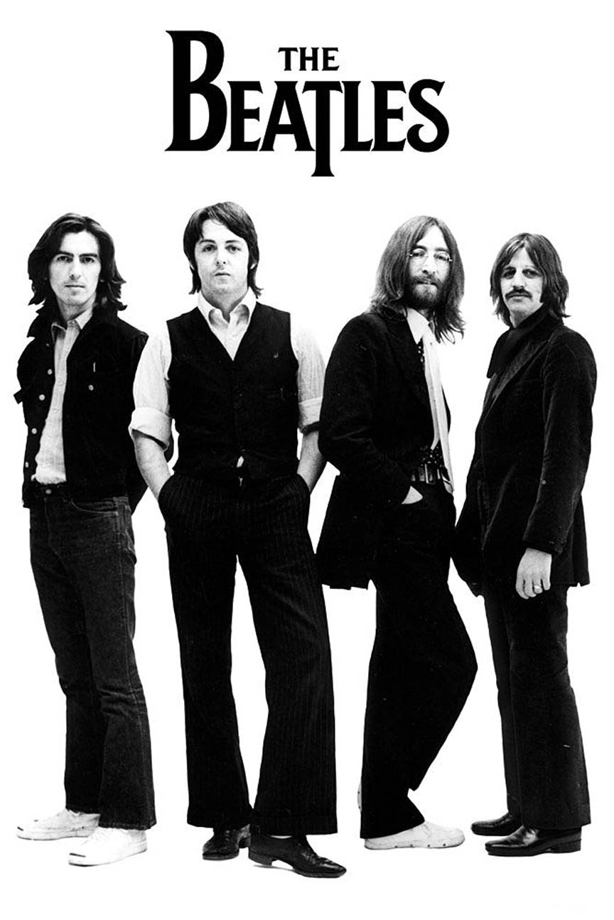 The Beatles – White Album Group Shot – Wall Poster