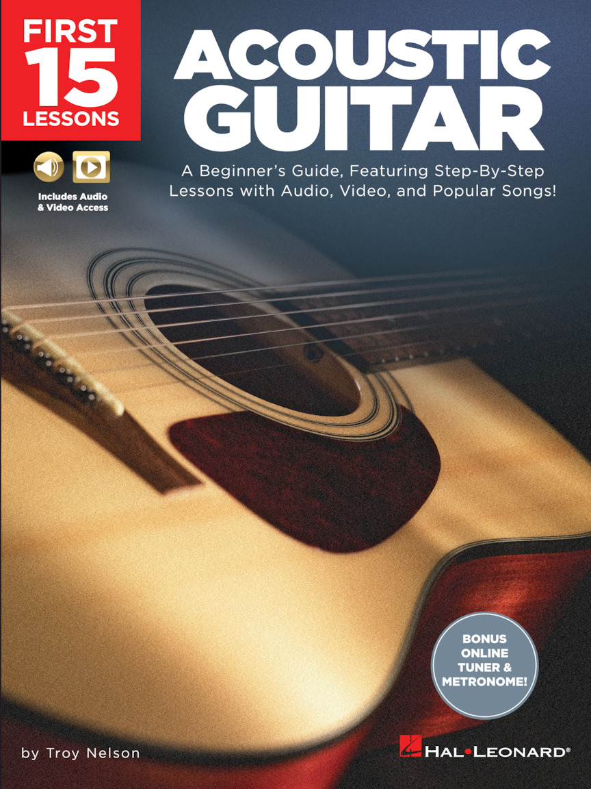 Product Cover for First 15 Lessons – Acoustic Guitar