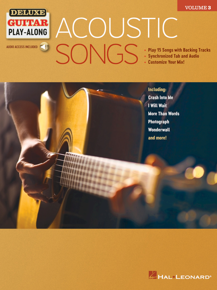 Acoustic Songs - Deluxe Guitar Play-Along Volume 3 | Hal