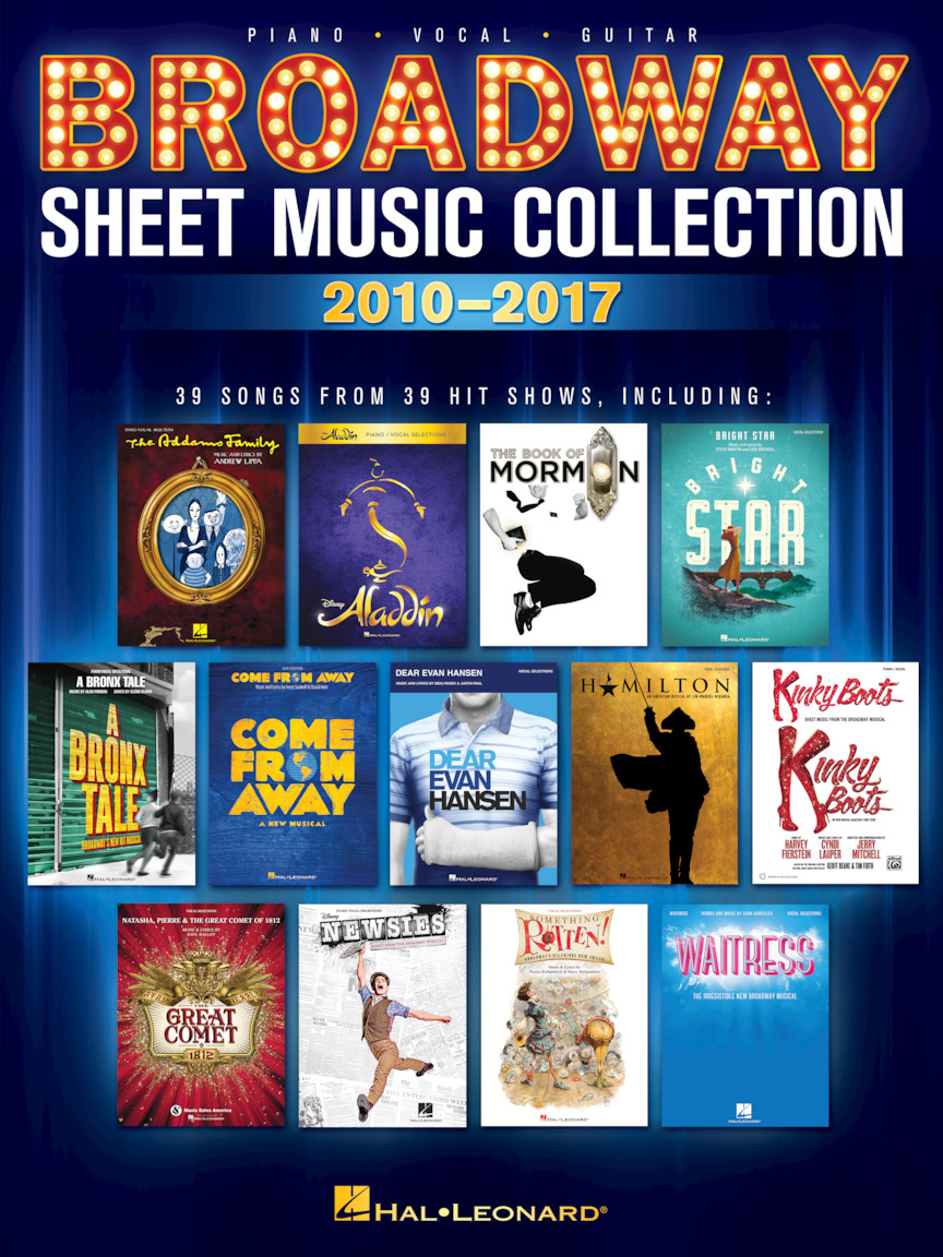 Product Cover for Broadway Sheet Music Collection: 2010-2017