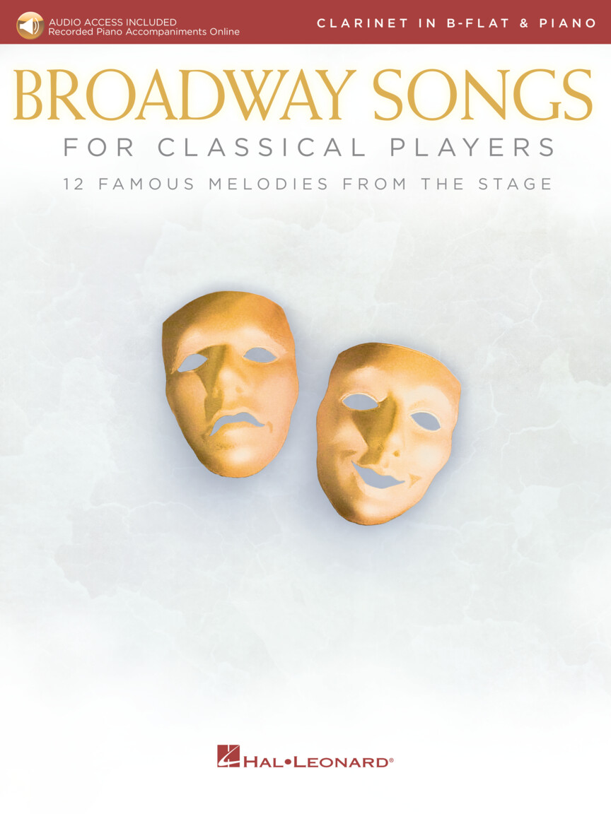 Product Cover for Broadway Songs for Classical Players – Clarinet and Piano