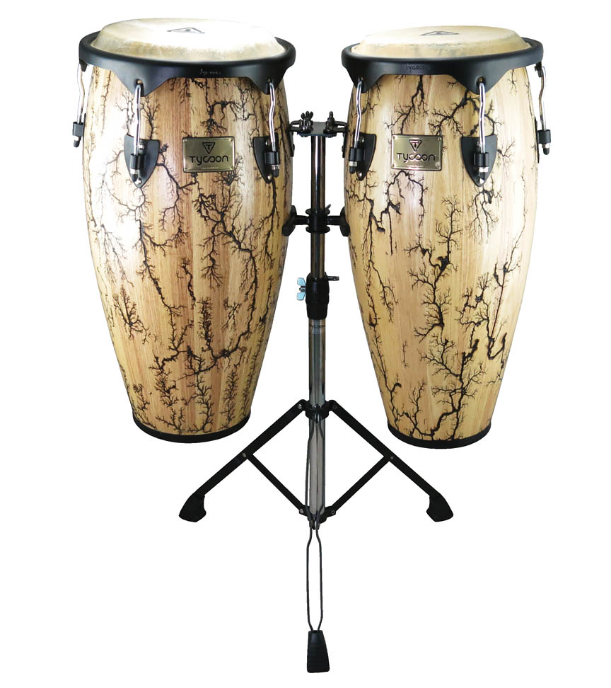 Product Cover for 10″ & 11″ Supremo Select Series Congas – Willow Finish with Double Stand