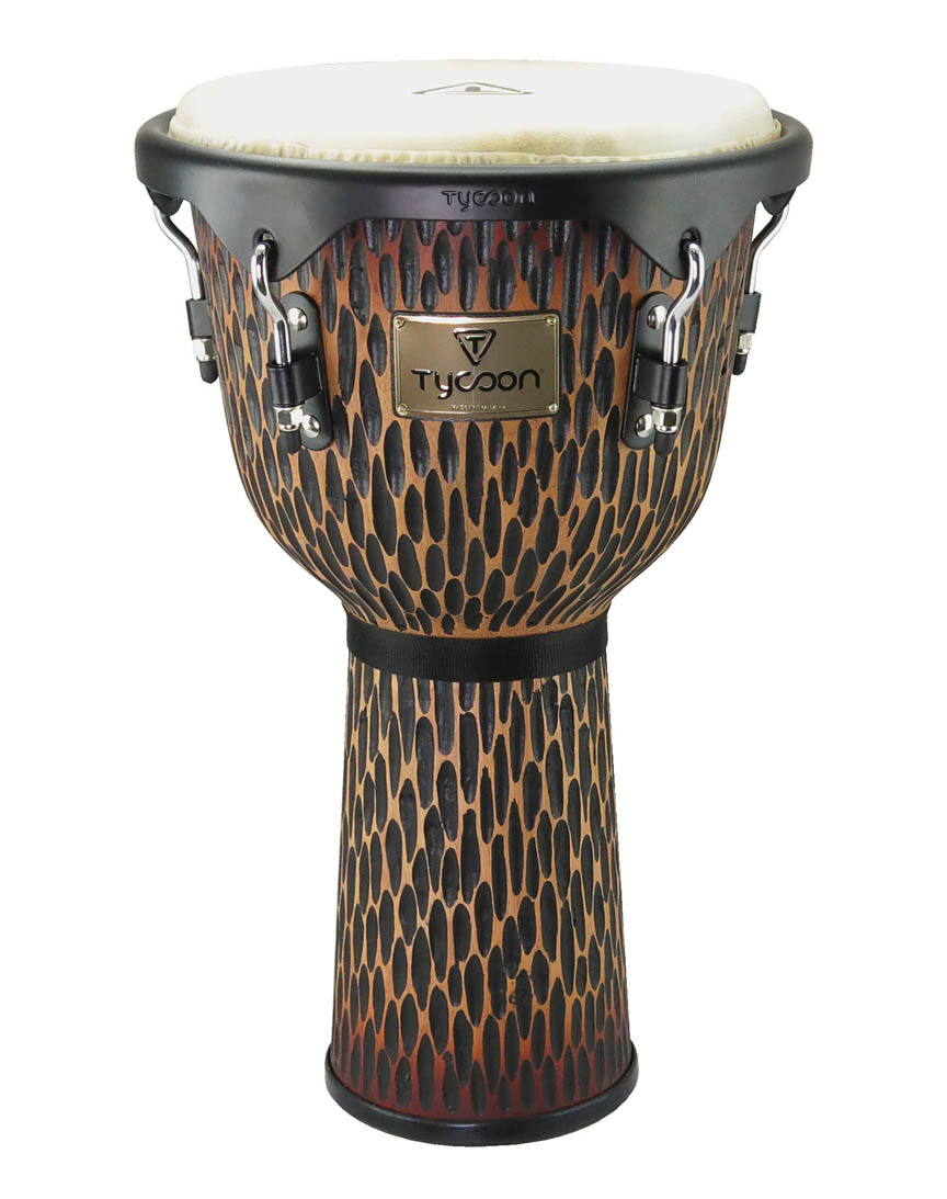 Product Cover for 12″ Supremo Select Chiseled Orange Series Djembe