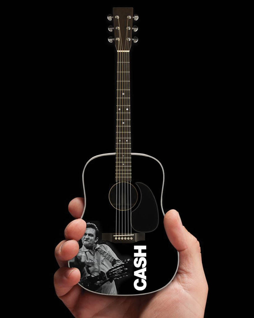 Product Cover for Johnny Cash – Signature Black Acoustic Guitar Model (Middle Finger)