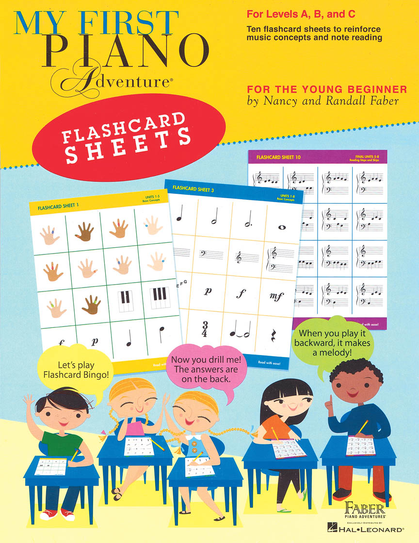 My First Piano Adventure® Flashcard Sheets