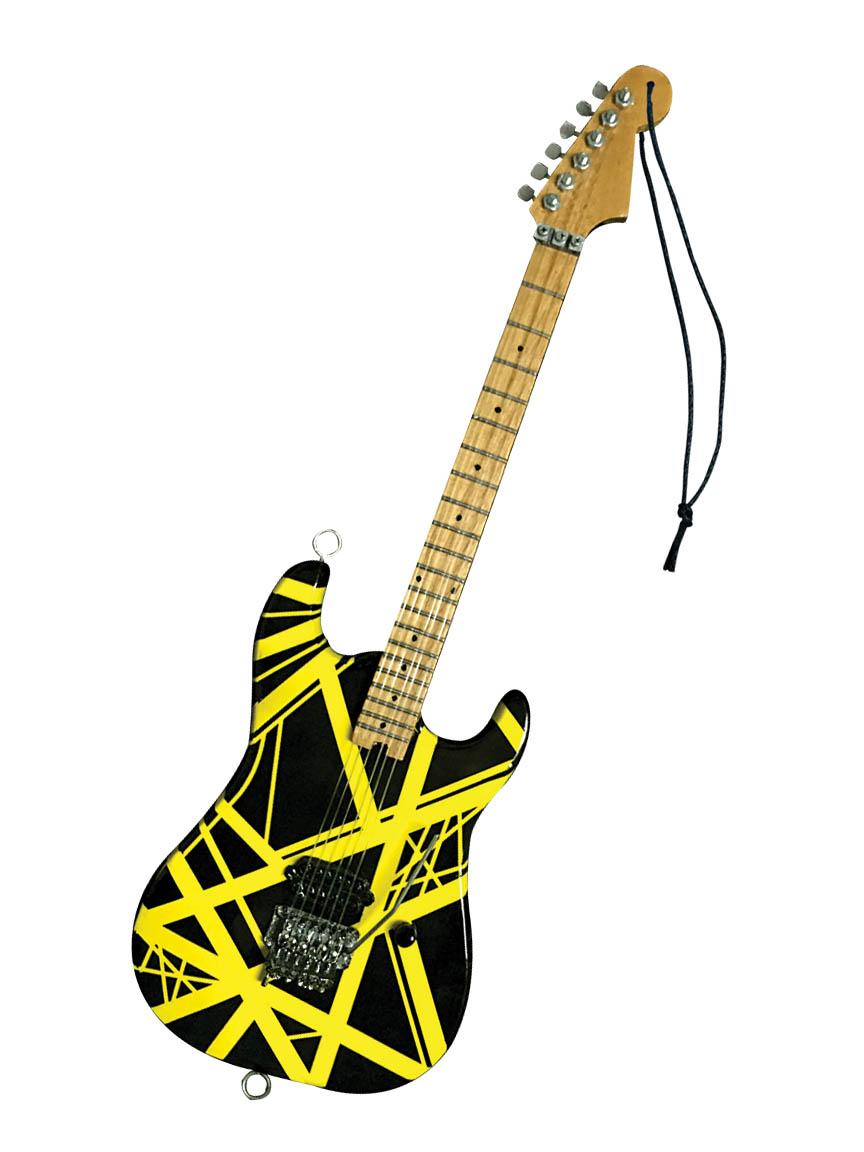 "Eddie Van Halen – ""Bumble Bee"" (Yellow/Black) 6″ Holiday Ornament"