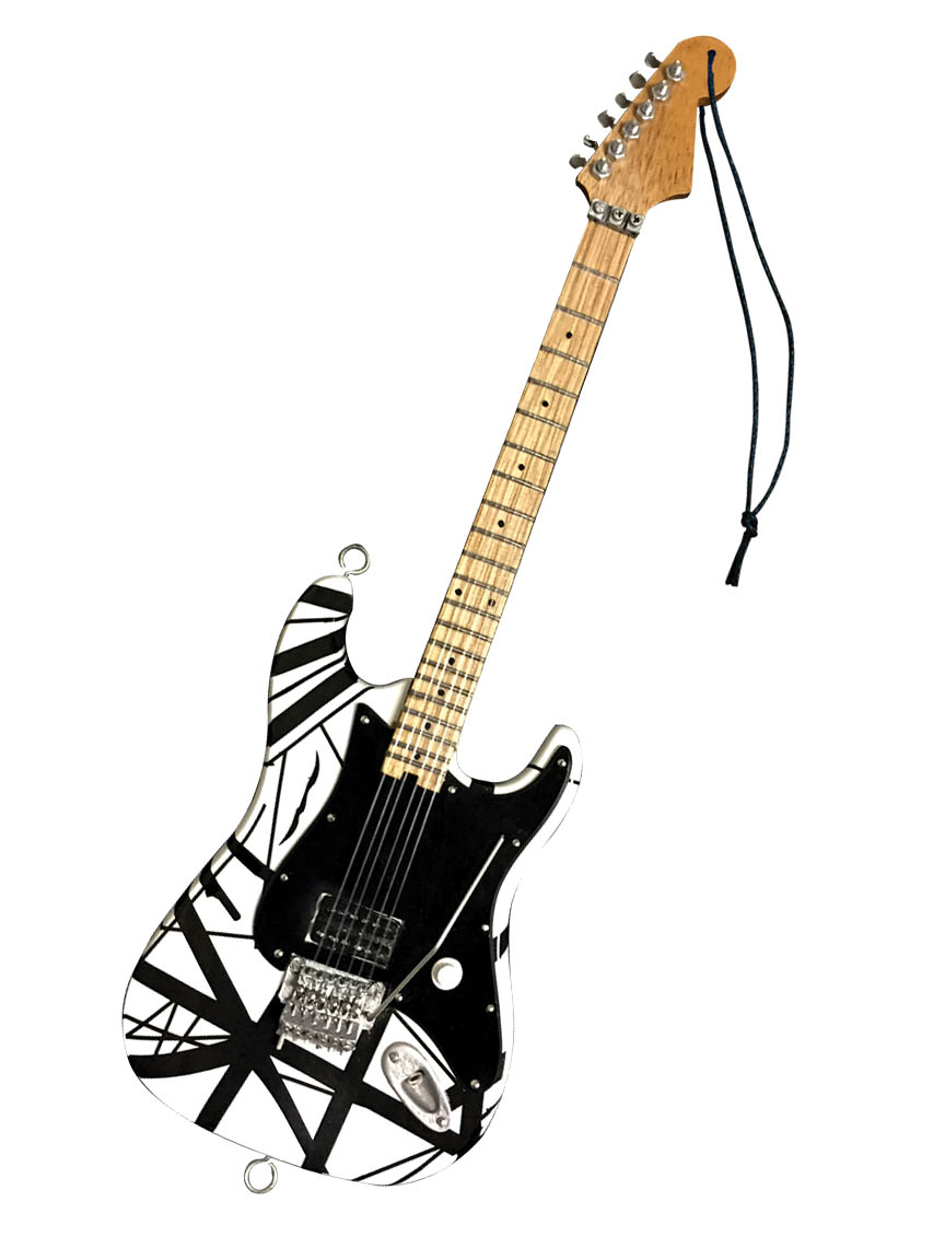 """Product Cover for Eddie Van Halen – """"Franky"""" (White/Black) 6″ Holiday Ornament"""